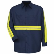 SP14EN Enhanced Visibility Industrial Work Shirt