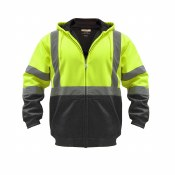 UHV425 High Visibility Hooded Soft Shell Class 3