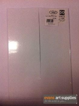 """12x4"""" White Flash Card"""