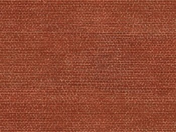3D Cardboard Sheet Klinker Red