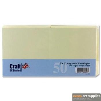 5x5 Ivory Card & Envelopes 50s