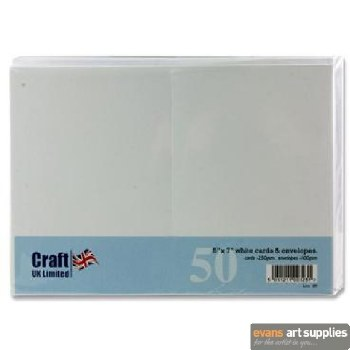 5x7 White Card & Envelopes 50s