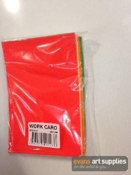 "6x4"" Flourescent Work Card"