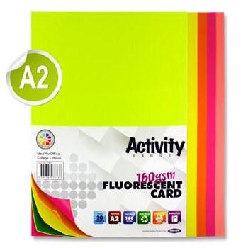 A2 Fluorescent Card Ass 20s