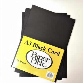 A3 Paperpick Black Card 25s