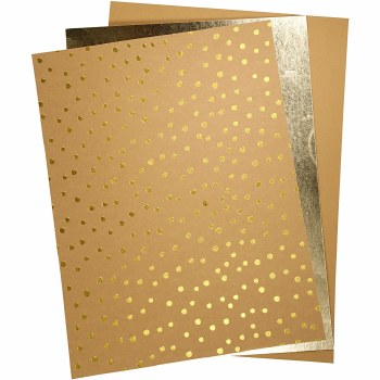 A4 Faux Leather 3 sheets Golds
