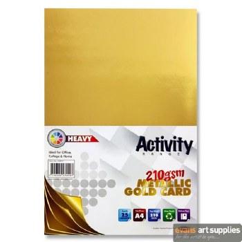 A4 Gold Card 210gsm 25s