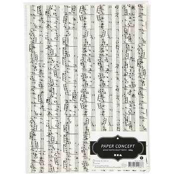 A4 Music Note Paper 10 sheets