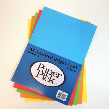 A4 Paperpick Assorted Bold Card 50s