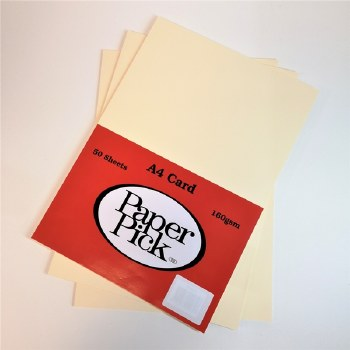 A4 Paperpick Cream Card 50s
