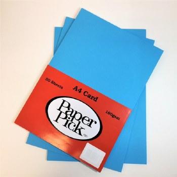 A4 Paperpick Dark Blue Card 50s