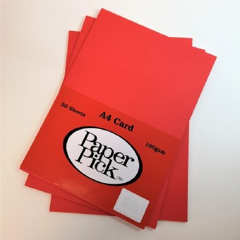 A4 Paperpick Red Card 50s
