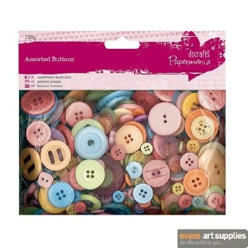 Assorted Buttons Mixed Bright