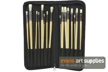 Brush Set in Black Holder