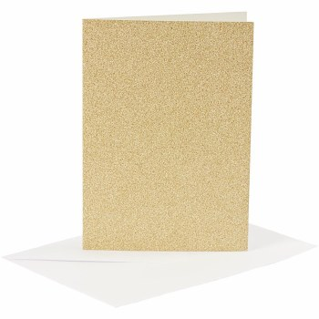 Card & Envelope Gold Glitter