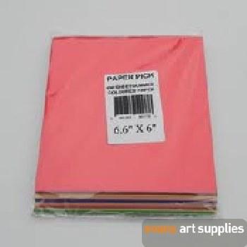 """Coloured Gummed Squares 6.6x6"""""""