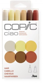 Copic Ciao 6pc Set Hair