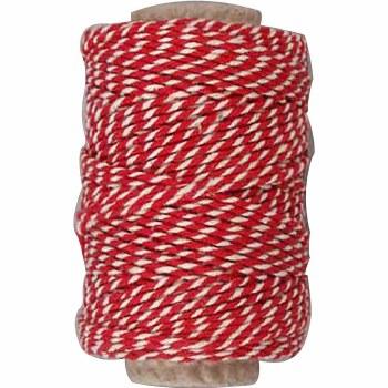 Cotton Cord Red & White 50m