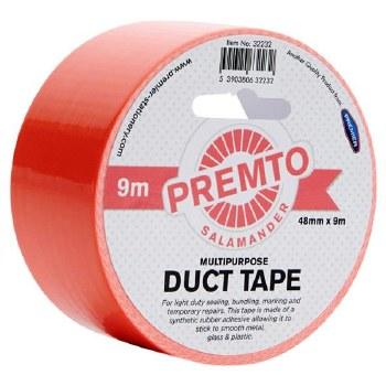 Craft Duct Tape Salamander - Neon Orange
