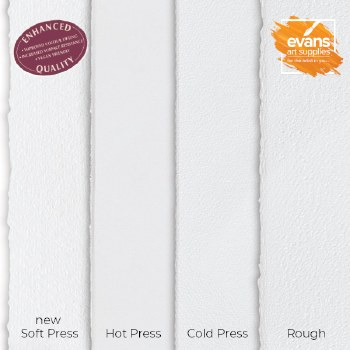 Fabriano Artistico Traditional White Hot Pressed 56x76cm 640gsm (Min 2 Sheets)