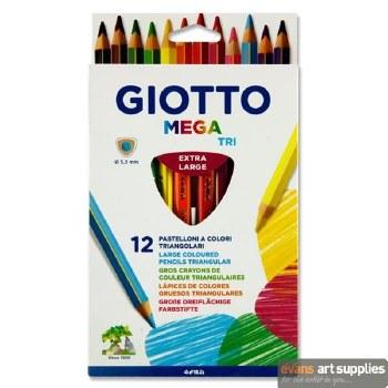 GIOTTO Mega Tri Col Pencils 12
