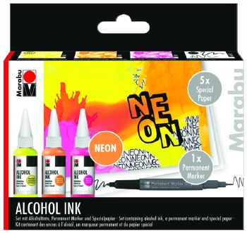 MARABU ALCOHOL INK SET NEON
