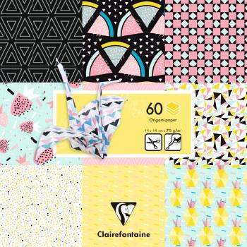 Origami Paper -Geometric Fruit