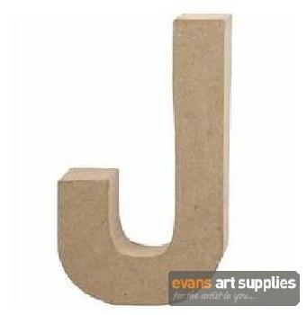 Papier Mache Large Letter J