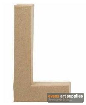 Papier Mache Large Letter L