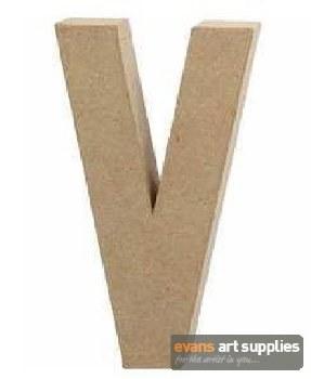 Papier Mache Large Letter V