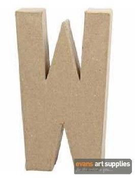Papier Mache Large Letter W