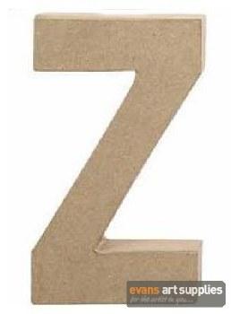 Papier Mache Large Letter Z