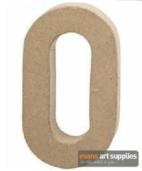 Papier Mache Large Number 0