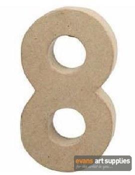 Papier Mache Large Number 8