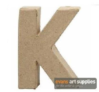 Papier Mache Small Letter K
