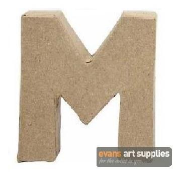 Papier Mache Small Letter M