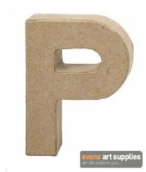 Papier Mache Small Letter P