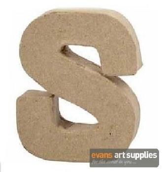Papier Mache Small Letter S