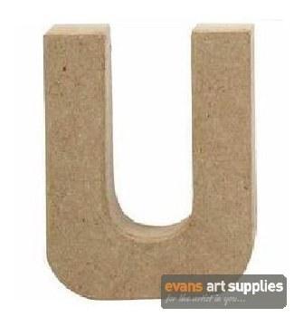 Papier Mache Small Letter U