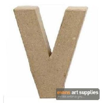 Papier Mache Small Letter V