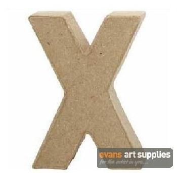 Papier Mache Small Letter X
