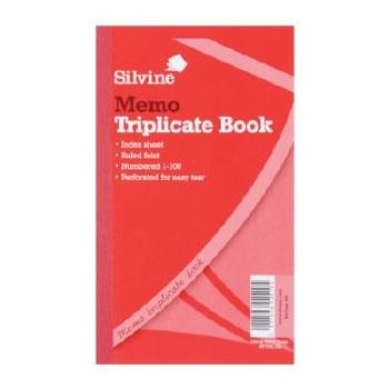 Silvine 605 TriplicateBook 8x5