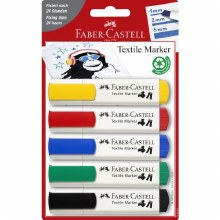 Faber Castell T-Shirt Markers Set of 5