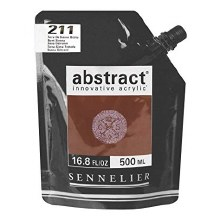 Abstract 500ml Burnt Sienna