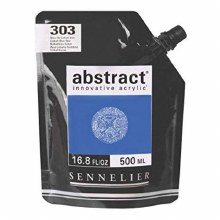Abstract 500ml Cobalt Blue