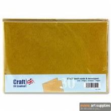 5x7 Kraft Card & Envelopes 50s