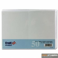 5x7 White Card & Envelopes 50s