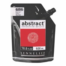 Abstract 500ml Primary Red