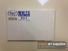 "6x4"" White Work Card"