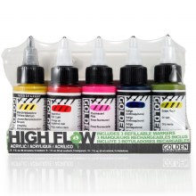 Golden High Flow Set of 5 + 3 Empty Refilable Markers